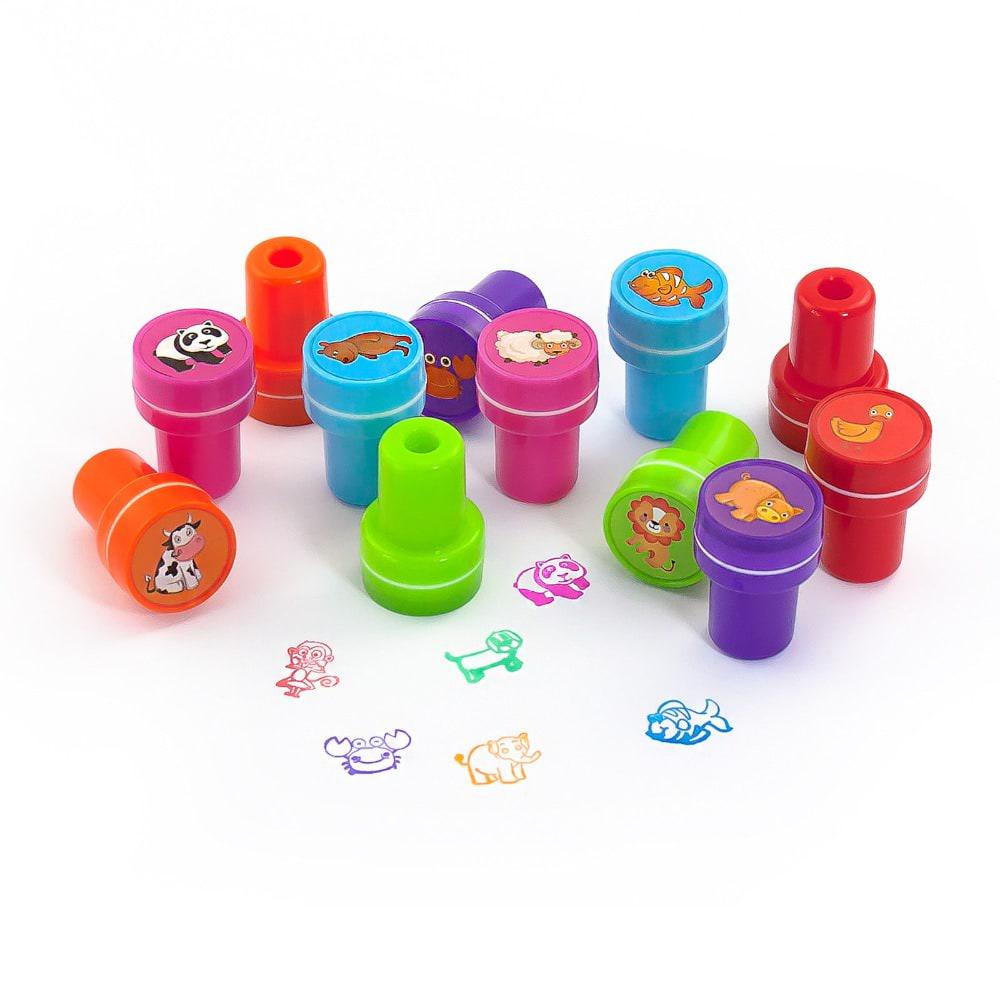 Stempel Für Kinder : 12 kinder stempel tierstempel set selbstf rbend kreativ ~ Watch28wear.com Haus und Dekorationen