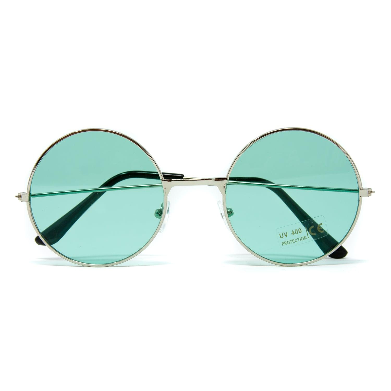 LHKQ Brille ohne st/ärke f/ür Herren Damen retro John lennon brille vintage rounde brille klassisch nerd brille deko Brillenfassungen