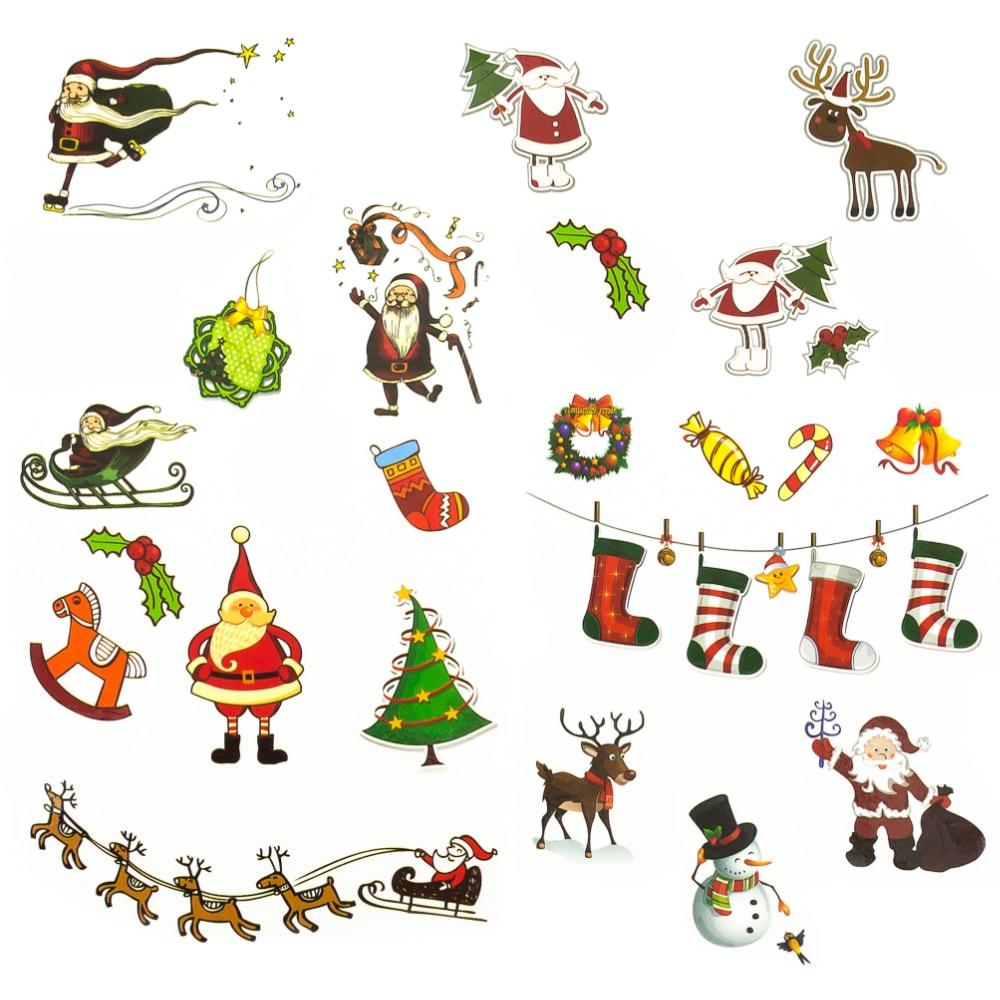 Weihnachten Kinder.Temporäre Klebetattoos Kinder Tattoo Set 22 Stk Weihnachten Mix
