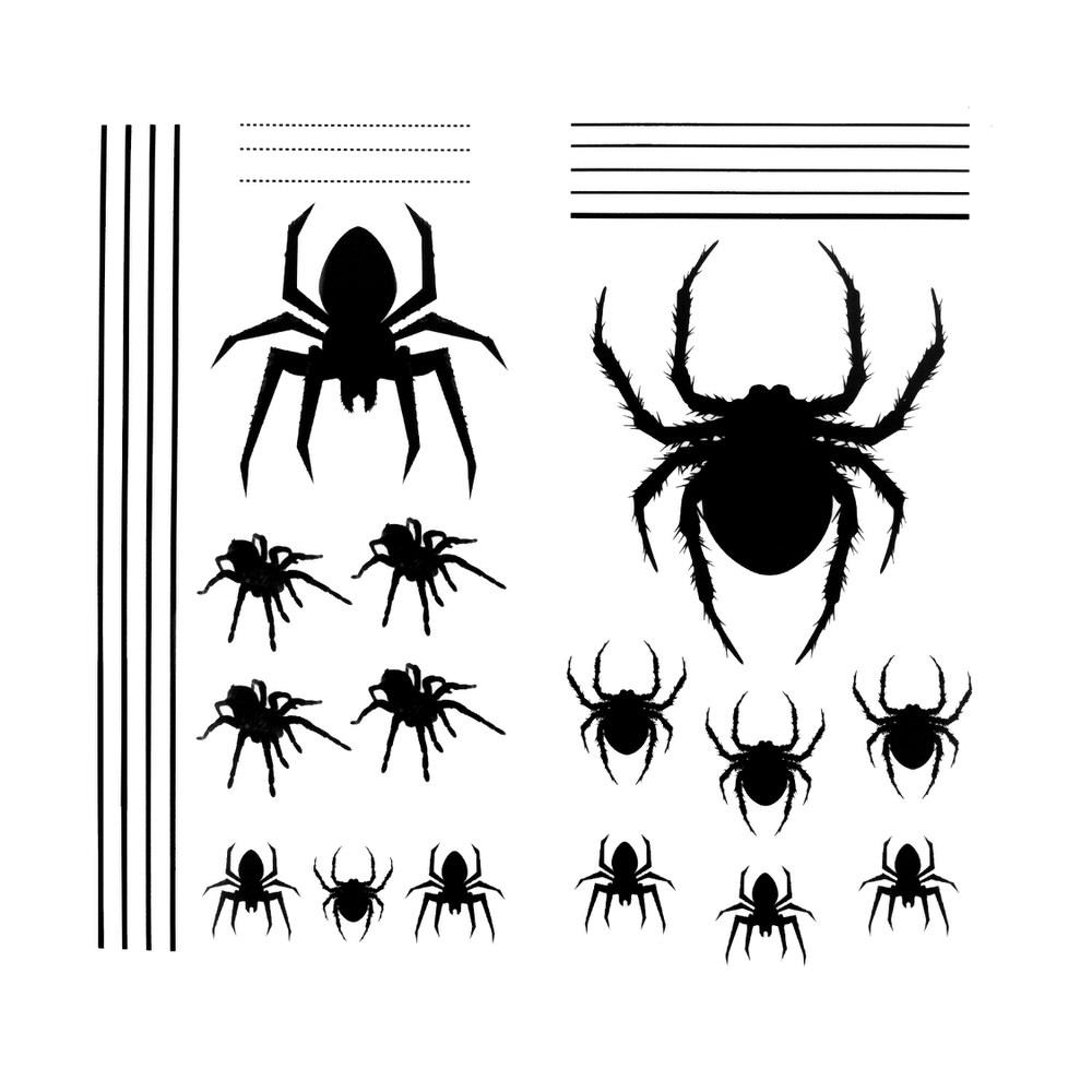 105 PCS Halloween Dekoration Aufkleber Realistisch Sticker Spinnennetz Spinnen Schl/äger Flederm/äuse Halloween Fensteraufkleber Wandtattoo Wandaufkleber Aufkleber wiederabl/ösbar Horror Sticker