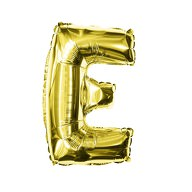 Folien Luftballon Buchstabe E Geburtstag goldene Hochzeit Party Deko Ballon - gold