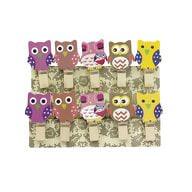 10 Mini Wäscheklammern Holz Miniklammern kleine Deko Klammern - Eulen