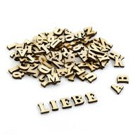 ABC Holz Buchstaben Spielzeug Alphabet Deko ca. 100 Teile - natur