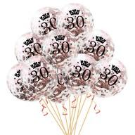 10x Konfetti Luftballons Zahl 30 Geburtstag Happy Birthday 30 Ballons