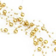 Perlenschnur Perlen Girlande Tisch Deko Hochzeit Feier Jubiläum - gold