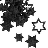 24 Filz Sterne Weihnachtsdeko Weihnachtssterne Tischdeko Weihnachten 3 Motive - dunkelgrau