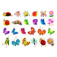 Temporäre Tattoos Klebetattoos Kinder Tattoo Set - Schmetterlinge