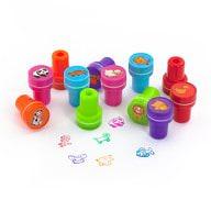 12 Kinder Stempel Tierstempel Set Selbstfärbend kreativ