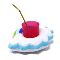 5x Schwimmende Regenbogen Wolke Getränkehalter aufblasbar Pool Badespielzeug