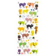 Katzen 3D Sticker Tier Aufkleber Set für Kinder Doming Vintage Retro Deko Scrapbooking Basteln
