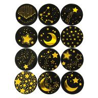 Sterne Mond Sternschnuppen Aufkleber für Weihnachten Sticker Weihnachtsaufkleber Weihnachtsdeko