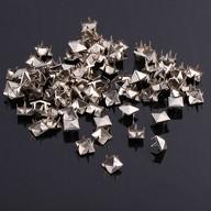 25 Pyramidennieten Ziernieten Metall Nieten Spikes Gothic Punk - silber