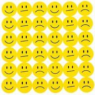 180 Smiley Sticker Set Aufkleber Lächeln Emoji Smily Face  - gelb