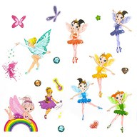 Feen Elfen Ballerina Engel Tattoo Set mit Glitzereffekt Kinder Tattoos