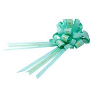 Geschenkschleife mit Geschenkband Aufschrift Love You Deko Schleifen Geschenke Valentinstag - minze