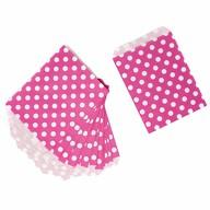 24 Geschenktüten Papiertüten Geschenktaschen Tüten gepunktet für Kinder Geburtstag Mitgebsel - pink