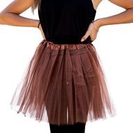 Tutu Tütü Damen Rock braun Tüllrock Unterrock Kostüm Accessoire Fasching Karneval 60 cm - 116 cm