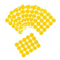 200 Markierungspunkte Klebepunkte Sticker Aufkleber ⌀ 2cm - gelb