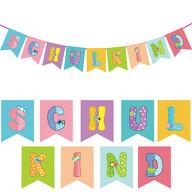 Schuleinführung Girlande Schulkind Banner Hänge Deko für Schulanfang Einschulung Jungs Mädchen