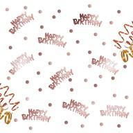 Konfetti Happy Birthday Geburtstag Jubiläum roségold + Punkte +300 Stk