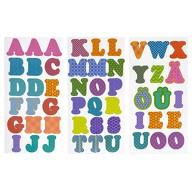ABC Alphabet Buchstaben Sticker Set 51 Aufkleber für Schuleinführung Einschulung zum Basteln - bunt