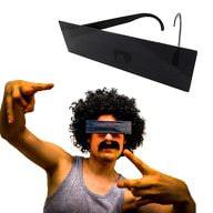 Zensurbrille Zensur Balken Brille schwarzer Balken Sonnenbrille Party