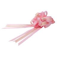 Geschenkschleife mit Geschenkband Aufschrift Love You Deko Schleifen Geschenke Valentinstag - rosa