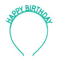 Haarreifen Happy Birthday Haarreif für Geburtstag Jubiläum Mädchen Damen Frauen Accessoire - grün