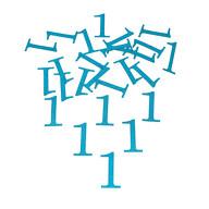 Konfetti Zahl 1 Tisch Deko für Kinder Geburtstag Junge Jubiläum 24 Stk. blau mit Glitzereffekt