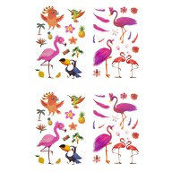 Temporäre Klebetattoos Kinder Vogel Tattoo Set - Flamingo Motive