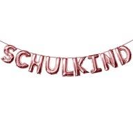 Schulkind Folienballon Girlande Schuleinführung Einschulung Schulanfang Feier Deko - roségold