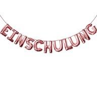 Einschulung Folienballon Girlande Schuleinführung Schulanfang Feier Deko roségold