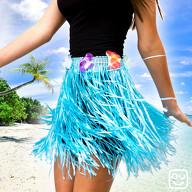 Hula Rock Hawaii-Rock Damen Hawaii Party Beachparty Fasching Karneval Mottoparty - blau