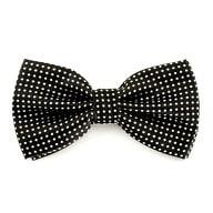 Fliege Schleife gepunktet Hochzeit Anzug Smoking - schwarz-weiß