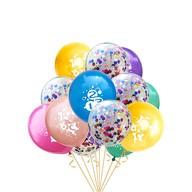 Konfetti Luftballon Set für Schuleinführung Schulanfang Deko Ballons Farbmix
