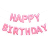 Happy Birthday Folienballon Girlande in Rosa Kinder Geburtstag Mädchen Party Deko