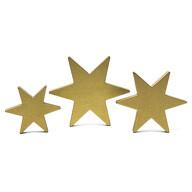 3 Holz Sterne Mix gold Holzdeko Dekosterne Weihnachtsdeko Tisch Deko - Echtholz