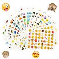 Emoji Sticker 960 Stück Aufkleber XXL Emoticons Smiley