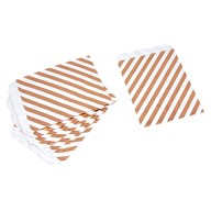 10 Geschenktüten Papiertüten Geschenktaschen Tüten mit Streifen für Kinder Geburtstag Mitgebsel weiß