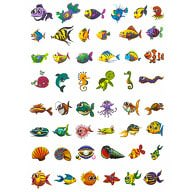 Temporäre Tattoos Klebetattoos Kinder Tattoo Set - Fisch Motive