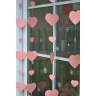2 Deckenhänger Herz Girlande Hochzeit Geburtstag Feier Deko - rosa