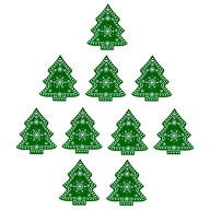 10 Holz Tannenbäume Weihnachtsbaum Christbaum Anhänger Christbaumschmuck Holzdeko Weihnachtsdeko