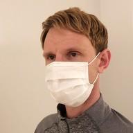 2x Einweg Atemschutzmaske Schutzmaske Mundschutz Atemschutz Maske Atemmaske Spuck Schutz 3-lagig Weiß