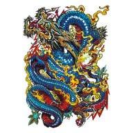 Temporäres Tattoo Klebetattoo Tättowierung - Dragon