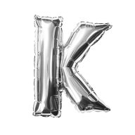Folien Luftballon Buchstabe K Geburtstag Silber Hochzeit Party Deko Ballon - silber