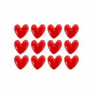 12x Herz Konfetti Tischdeko JGA Junggesellinnenabschied Hochzeit Geschenk Dekoration - rot