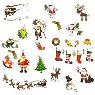 Weihnachten Weihnachtsmann Sticker 22 Stk. Aufkleber Weihnachtsmotive