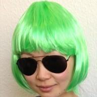 Perücke Damen Kurzhaar glatt Karneval Fasching Party - grün
