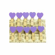 10 Mini Wäscheklammern Holz Miniklammern Deko Klammern - lila Herzen