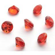 Deko Diamanten Dekosteine Tischdeko Dekoration 20mm - rot